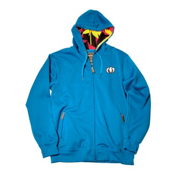 Electric Pattern Fill Snow Hoodie, Royal, medium