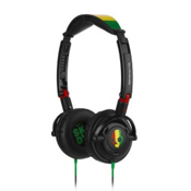 Skullcandy Lowrider On-Ear Headphones, Rasta, medium