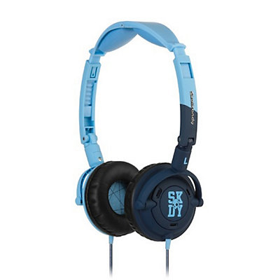Skullcandy Lowrider On-Ear Headphones, Light Blue-Navy, large