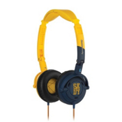 Skullcandy Lowrider On-Ear Headphones, Yellow-Navy, medium