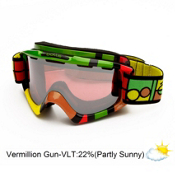 Bolle Nova Goggles 2013, Rasta Blocks-Vermillon Gun, medium