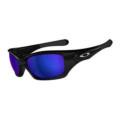 Oakley Pit Bull Polarized Angler Sunglasses, Polished Black-Shallow Blue Polarized, large
