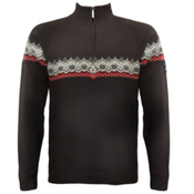 Dale Of Norway Calgary Masculine Mens Sweater, Black-Rasberry-Offwhite, medium