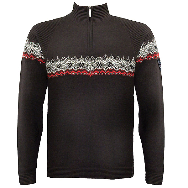 Dale Of Norway Calgary Masculine Mens Sweater, Black-Rasberry-Offwhite, 600