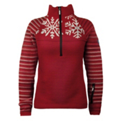 Dale Of Norway Isfjorden Womens Sweater, Raspberry-Off White-Redrose, medium