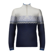 Dale Of Norway St. Moritz Womens Sweater, Nacht-Victoria Blue-Off White-Glacier, medium