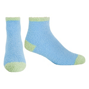 Life Is Good Snuggle Lightweight Womens Socks, Turquoise Blue-Apple Green, medium
