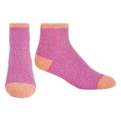 Life Is Good Snuggle Lightweight Womens Socks, Deep Magenta-Juicy Orange, medium