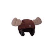 Mental Moose Head Helmet Cover, Brown, medium