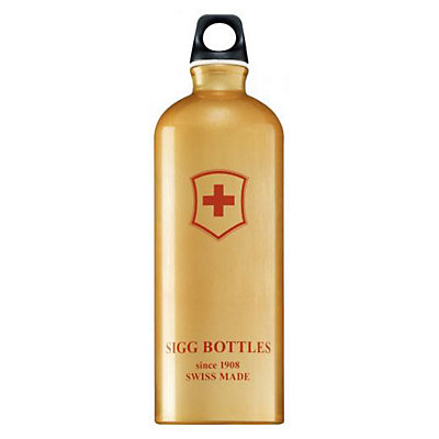 SIGG+ Swiss Cross Gold Water Bottle, , large