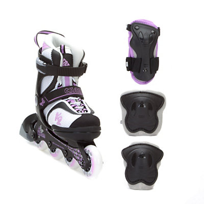 K2 Charm Adjustable with 3 Pad Pack Girls Inline Skates, , viewer