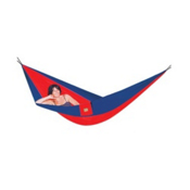 Hammock Bliss Single Hammock, Red-Navy, medium