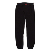 Hot Chillys Micro Fleece Kids Long Underwear Bottom, Black, medium
