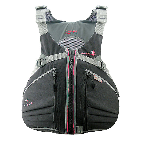 Stohlquist Cruiser Womens Kayak Life Jacket 2017, Black-Pink, 600