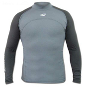 Stohlquist Burnout Long Sleeve Rashguard, Gray, medium