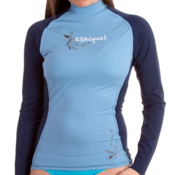 Stohlquist Burnout Long Sleeve Womens Rashguard, Powder Blue, medium
