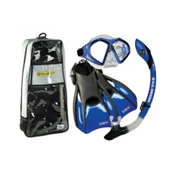 US Divers Admiral LX Island Dry Trek Snorkel Set, Blue, medium