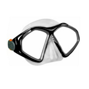 US Divers Avalon LX Snorkel Mask, Black, medium