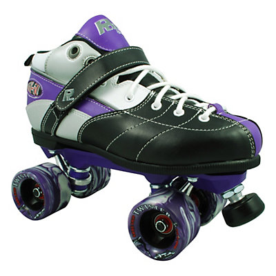 Rock Expression Boys Speed Roller Skates, Purple, viewer