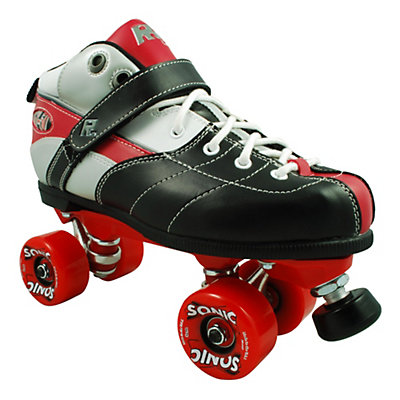 Rock Expression Sonic Boys Speed Roller Skates, Red, viewer