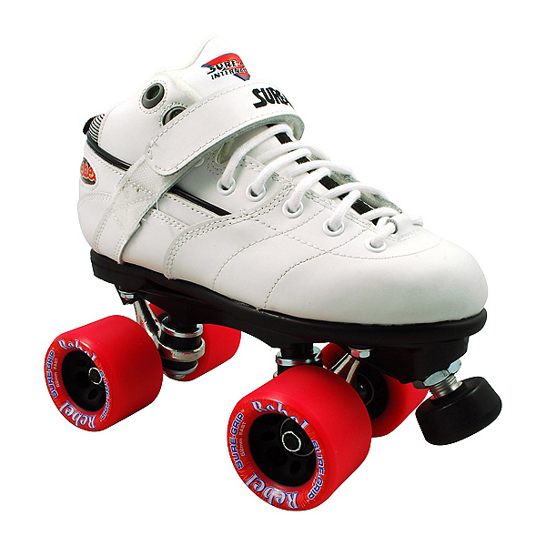 Sure Grip International Rebel White Speed Roller Skates 2017, , 600