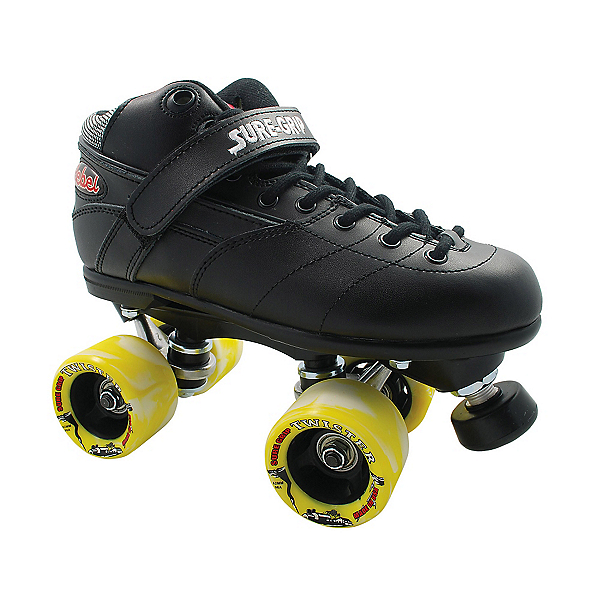 Sure Grip International Rebel Twister Black Speed Roller Skates, , 600