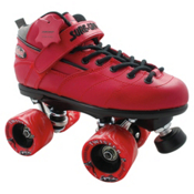 RC Rebel Twister Red Speed Roller Skates, Red, medium