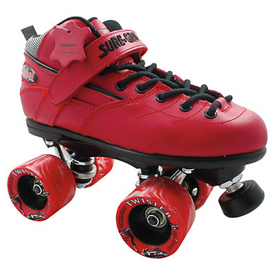 RC Rebel Twister Red Speed Roller Skates, Red, viewer