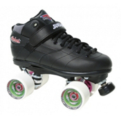 Sure Grip International Rebel Fugitive Boys Speed Roller Skates, Black-White, medium