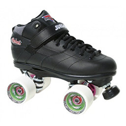 Sure Grip International Rebel Fugitive Boys Speed Roller Skates, Black-White, 256