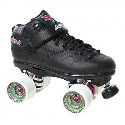 Sure Grip International Rebel Fugitive Boys Speed Roller Skates, Black, large