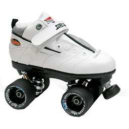Sure Grip International Rebel Fugitive Boys Speed Roller Skates, White-Black, 256