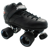 Sure Grip International Rebel Fugitive Boys Speed Roller Skates, Black, medium