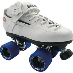 Sure Grip International Rebel Fugitive Boys Speed Roller Skates, White, 256