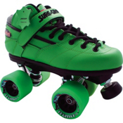 Sure Grip International Rebel Fugitive Boys Speed Roller Skates, Green, medium