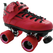 Sure Grip International Rebel Fugitive Speed Roller Skates 2013, Red, medium
