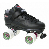 Sure Grip International Rebel Fugitive Speed Roller Skates, Black-White, medium