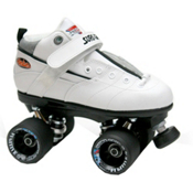 Sure Grip International Rebel Fugitive Speed Roller Skates, White-Black, medium