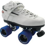 Sure Grip International Rebel Fugitive Speed Roller Skates, White, medium