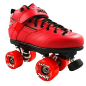 Sure Grip International Rebel Sonic Speed Roller Skates, Red, medium