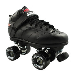Sure Grip International Rebel Sonic Speed Roller Skates, Black, 256
