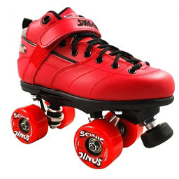 Sure Grip International Rebel Sonic Boys Speed Roller Skates, Red, 256