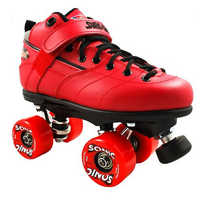Sure Grip International Rebel Sonic Boys Speed Roller Skates, Red, large