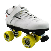 Sure Grip International Rebel Sonic Boys Speed Roller Skates, White, medium