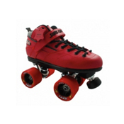 Sure Grip International Rebel Zoom Speed Roller Skates, Red, medium