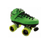 Sure Grip International Rebel Zoom Speed Roller Skates 2013, Green, medium