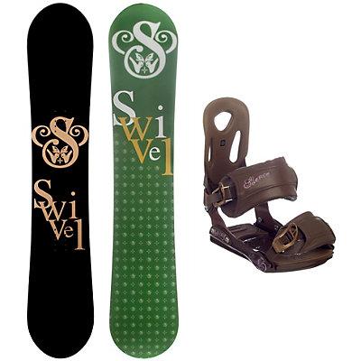 Swivel Logo S SLNC II Womens Snowboard and Binding Package, , large