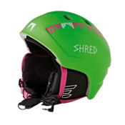 SHRED Django Audio Helmet 2013, Green-Pink, medium