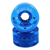 Atom Pulse Roller Skate Wheels, Blue, medium