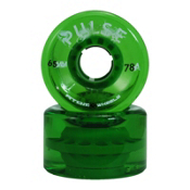 Atom Pulse Roller Skate Wheels, Green, medium